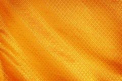 Złocisty tkanina jedwab Obraz Stock