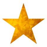 Złocisty trójbok gwiazdy biel Zdjęcia Stock