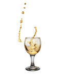 Złocisty wino fotografia royalty free