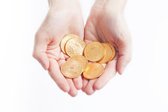 Złocistych monet amerykanina dolary Obraz Stock