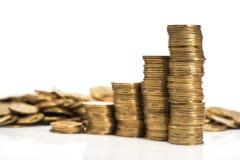 Złocistych monet sterta Obraz Royalty Free