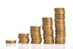 Złocistych monet sterta Zdjęcie Stock