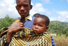 Z oczami Afryka, Halny Kilolo, Tanzania Afryka Zdjęcie Stock