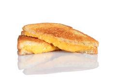 Z odbiciem piec na grillu serowa kanapka Zdjęcia Royalty Free