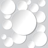 Z opadowymi cieniami okręgu papierowy sztandar również zwrócić corel ilustracji wektora Obrazy Stock