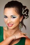 Z orientalnym makeup ładna dziewczyna Zdjęcie Stock