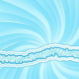 z ostrą spirali światła Obraz Royalty Free
