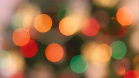 Z ostrość bożonarodzeniowe światła zbiory