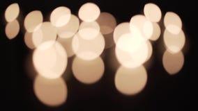 Z ostrości świeczki światła zbiory wideo