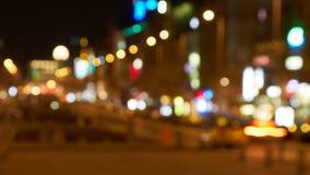 Z ostrości timelapse ciemna ulica zbiory wideo