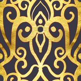 złota bezszwowy deseniowy royalty ilustracja