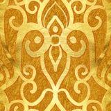 złota bezszwowy deseniowy ilustracja wektor