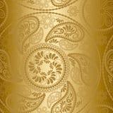 złota bezszwowy deseniowy Obrazy Stock