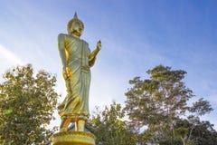 Złota Buddha statua, Wat Phra Który Khao Noi, Nan prowincja, Tha Obraz Royalty Free