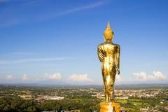 Złota Buddha statua, Wat Phra Który Khao Noi, Nan prowincja, Tha Zdjęcia Stock