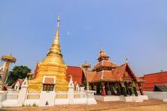 Złota buddyjska pagoda Obraz Royalty Free