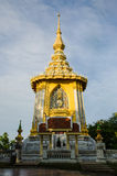 Złota buddyzm pagoda przy Watem Yanasangwararam Woramahawihan, Pattaya, Tajlandia Obrazy Royalty Free