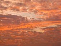 złota chmura w niebie Obraz Royalty Free
