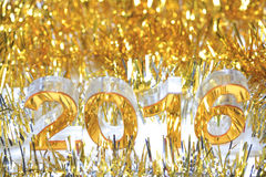 Złota 2016 3d ikona Obraz Stock