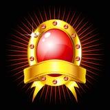 złota etykietka royalty ilustracja