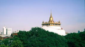 Złota góra, Bangkok, Tajlandia obrazy stock