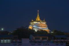 Złota góra, Wat Sraket, punkt zwrotny Bangkok, Tajlandia Fotografia Stock