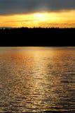 Złota godzina Na wodzie Zdjęcia Stock