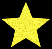 złota gwiazda zdjęcie stock