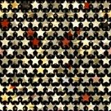 Złota gwiazdowy bezszwowy Fotografia Stock