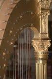 złota harfa Zdjęcia Royalty Free