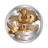 Złota i srebra smok Fotografia Royalty Free