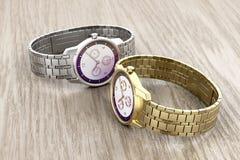 Złota i srebra zegarki Obraz Royalty Free