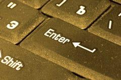złota komputerowa klawiatura Fotografia Royalty Free
