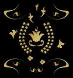 złota królewski deseniowy Zdjęcia Stock