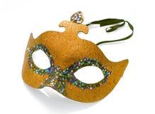 złota maska Fotografia Stock