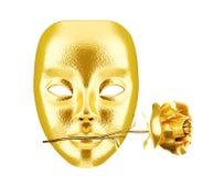 złota maska Zdjęcia Stock