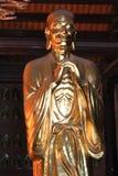 Złota materialna religii buddhism statua Fotografia Royalty Free