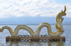 Złota Naga statua Fotografia Royalty Free