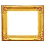 Złota obrazek rama Obrazy Stock