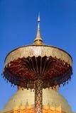 Złota pagoda przy Watem Phra Który Hariphunchai w Lamphun prowinci, Zdjęcia Stock