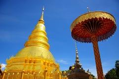 Złota pagoda, Tajlandia Zdjęcia Royalty Free