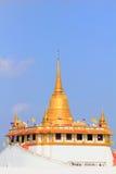 Złota pagoda, Wat Saket w Bangkok Tajlandia Zdjęcia Royalty Free