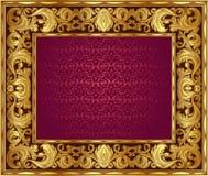 Złota rama Obraz Stock