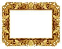 Złota rama Obraz Royalty Free