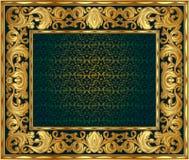 Złota rama Obrazy Royalty Free