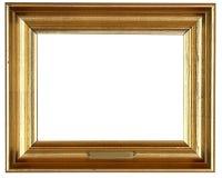 Złota rama Obrazy Stock