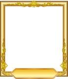 Złota ramowy kwiecisty Obraz Stock