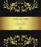 Złota rocznik karta Obraz Stock