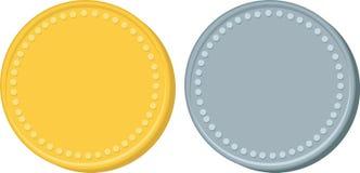 złota, srebra monety Obraz Stock