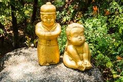 Złota statua Fotografia Royalty Free